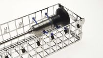Endoscope sterilization basket / stainless steel / perforated
