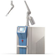 Pigmented lesion treatment laser / tattoo removal / ruby / trolley-mounted