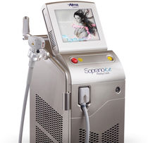 Hair removal laser / alexandrite / diode / trolley-mounted