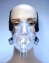 CPAP mask / facial / with valve / silicone