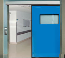 Hospital door / laboratory / for the pharmaceutical industry / sliding