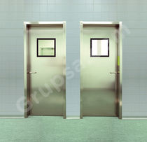 Hospital door / swing / automatic / stainless steel