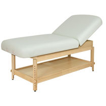 Hydraulic massage table / height-adjustable / 2-section