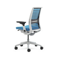 Office chair / with armrests / on casters