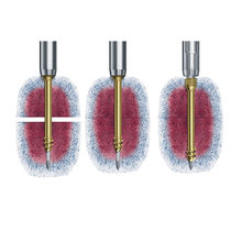 Bone fragment compression bone screw / headless