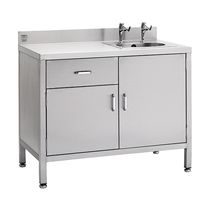 1-station sink / stainless steel / furniture-mounted