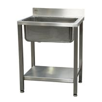 1-station sink / stainless steel