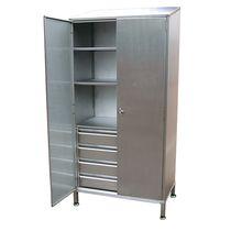 Storage cupboard / general purpose / hospital / stainless steel