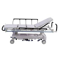 Transport stretcher trolley / hydraulic / height-adjustable / 2 sections