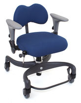 Office chair / on casters / with armrests / height-adjustable