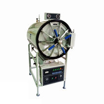 Medical autoclave / laboratory / floor-standing / horizontal