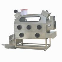 Class III isolator / floor-standing / stainless steel / glove box