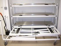 Loading trolley / storage / mortuary / for caskets