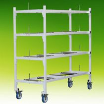 4-shelf shelving unit / mortuary / mobile