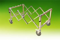 Mortuary trolley / for caskets / extendable