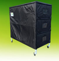 Coffin storage rack / for body trays / on casters