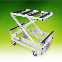 Mortuary trolley / unloading / for caskets / bariatric