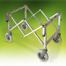 Mortuary trolley / coffin / stainless steel / extendable