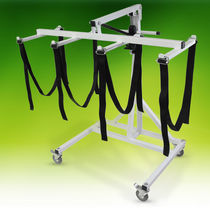 Hydraulic patient lift / on casters / mortuary