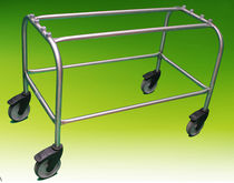 Transport trolley / coffin / stainless steel