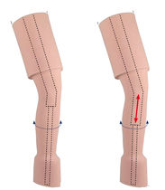 Calf cosmetic prosthesis cover / thigh / adult