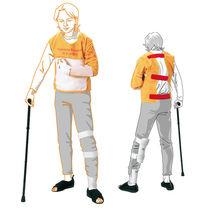 Hemiplegia simulation suit