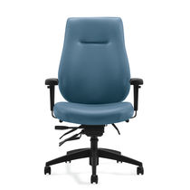 Office chair / with high backrest / on casters / with armrests