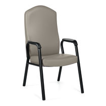 Waiting room chair / with armrests / with high backrest
