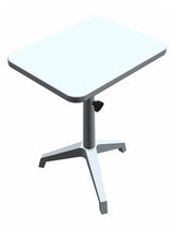 Manual ophthalmic instrument table / height-adjustable