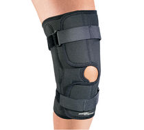 Knee orthosis / knee ligament stabilization / with flexible stays / open knee