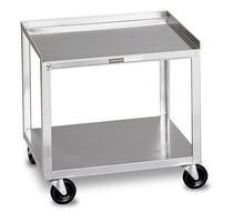 Transport trolley / for instruments / with drawer / 2-tray