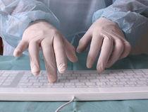 Wireless medical keyboard / glass / washable / hygiene