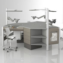 Double dental laboratory workstation