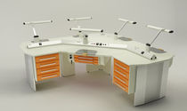 Dental laboratory workstation with light / freestanding