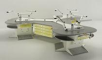 Freestanding dental laboratory workstation / with footrest