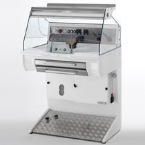 Dental laboratory workstation with hood / with footrest