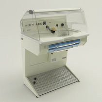 Dental laboratory workstation with hood