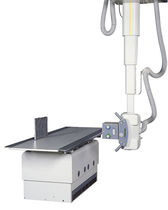 Radiography system / digital / for multipurpose radiography / with ceiling-mounted telescopic tube support
