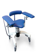 Surgical stool / height-adjustable / electric / with armrests