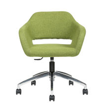 Office chair / with armrests / on casters / swivel