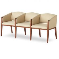 Waiting room beam chair / with armrests / with table / 3-seater