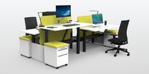 Modular desk / height-adjustable / with drawer / electric