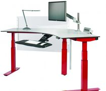Height-adjustable desk / electric