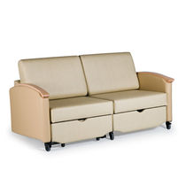 2-seater sofa-bed / for healthcare facilities