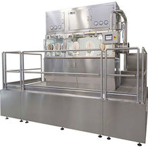 Dispensing isolator / class III / for the pharmaceutical industry / floor-mounted