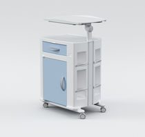 hospital bedside table (on casters, with over bed tray) 704T0002 Karismedica SpA