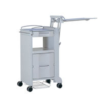 hospital bedside table (on casters, with over bed tray) ELEGANZA MANO Linet
