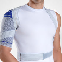 soft unilateral shoulder support brace (with waist support strap) OmoTrain&reg; Bauerfeind