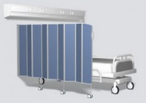 wall-mounted medical bed side screen (telescopic)  Silentia AB
