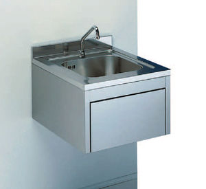 1station sink stainless steel wallmount
